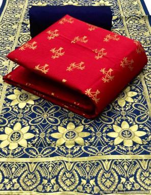 red top - banarasi silk (2m )50panna | bottom - heavy silk (2m) 56panna | dupatta - jacqaurd weaving (2.30m)24panna  fabric jacqaurd weaving  work casual