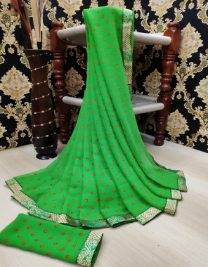 parrot  georgette  fabric mil print  work party wear