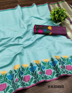 sky lichi khadi cotton silk  fabric zari woven work work ethnic