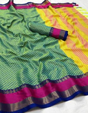parrot  soft cotton silk fabric weaving jacqaurd  work festive