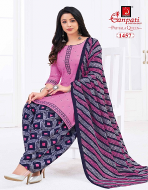 pink top - heavy cotton printed 2m | bottom - heavy cotton printed 2.50m | dupatta - heavy cotton printed 2.25m fabric printed work casual