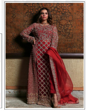 red top - georgette with embroidery sequence work | bottom + inner- santoon | dupatta - chiffon embroidery moti work fabric embroidery moti seqeunce work work casual