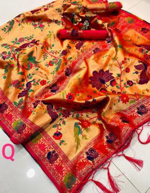 multi pure silk fabric weaving jacqaurd  work wedding