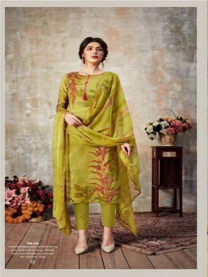 mahendi cotton fabric printed work casual