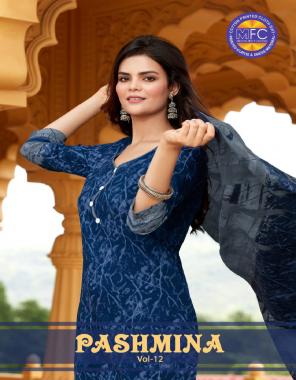 blue top -pure cotton 2.5m   bottom - pure cotton 2.25m   dupatta - pure cotton 2.25m fabric printed work ethnic