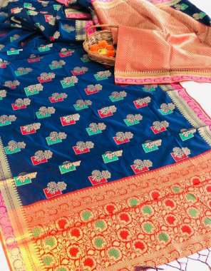 blue soft lichi silk fabric weaving jacqaurd  work casual
