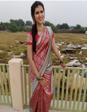 pink banarasi soft silk fabric weaving jacqaurd  work ethnic