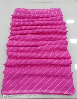 pink georgette fabric leheriya work festive