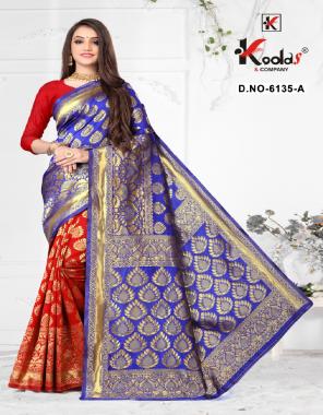 blue silk fabric weaving jacqaurd  work party wear