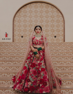 red 9000 markable velvet + beautiful embroidery zari work master copy fabric beautiful embroidery zari work  work wedding