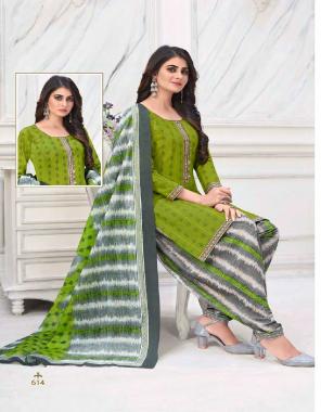 parrot top - cotton print 2m | bottom - cotton print 2.50m | dupatta -cotton print 2.25m fabric printed work party wear