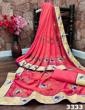 pink rangoli silk fabric embroidery work wedding