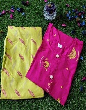 pink rayon fabric printed work daliy wear