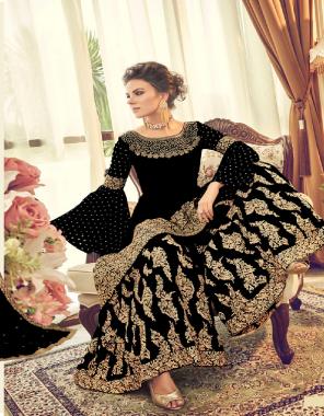black top - georgette | bottom + inner -santoon georgette | dupatta - fancy fabric embroidery fancy work  work festive