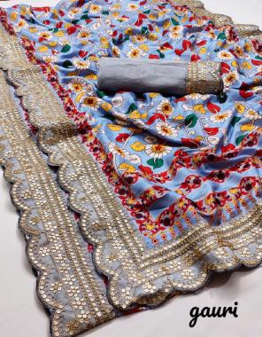 light purple saree - kumari silk | blouse - banglori silk  fabric kalamkari digital printed handwork sequence work work festive