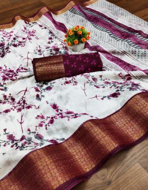 white wine mahashwari kanchi pattu fabric jacqaurd border  work casual