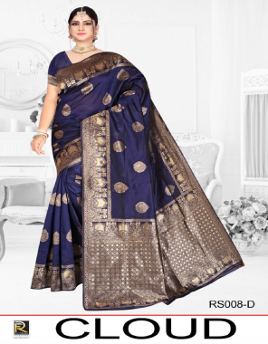 blue silk fabric weaving jacqaurd  work ethnic