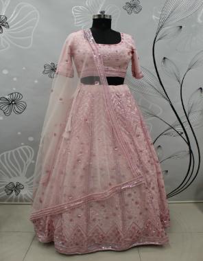 pink georgette  fabric fancy designer work work casual