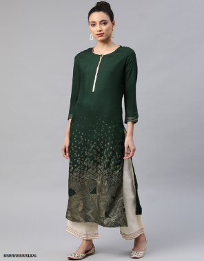 green cotton fabric fancy work casual