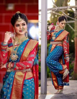 sky pure lichi silk fabric weaving jacqaurd work festive