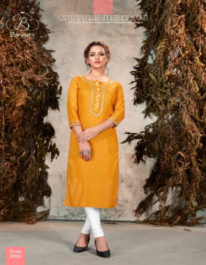yellow heavy rayon print fabric gota patti work work wedding
