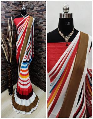multi soft weightless chiffon fabric printed work wedding