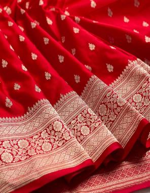 red soft lichi silk fabric weaving jacqaurd  work casual