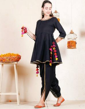 black top - heavy rayon fress size upto 44inch  dhoti -rayon full stitched upto 46 fabric plain work wedding