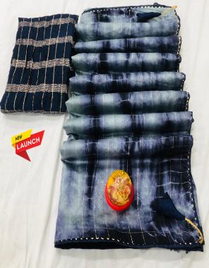 black grey  cotton modal siburi fabric siburi print work ethnic