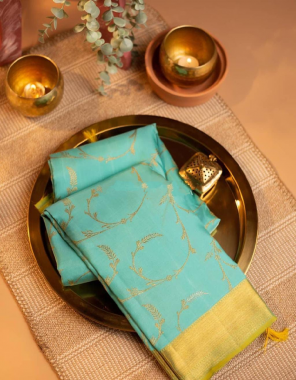 sky rama kanchipuram silk fabric weaving jacqaurd  work festive