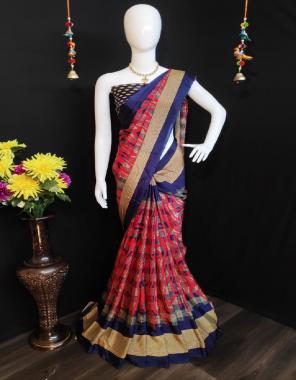 pink blue  weightless chiffon fabric printed work casual