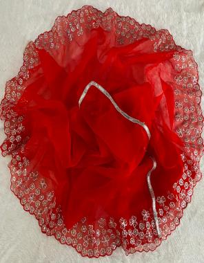 red saree -soft organza silk | blouse -banglori silk fabric seqeunce work festive
