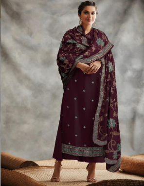 coffee top  -georgette |sleeve -georgette |bottom +inner -santoon |dupatta -heavy chinon |length -max upto 46-47 |size -max upto 60 | type -semi stitched  fabric embroidery work party wear