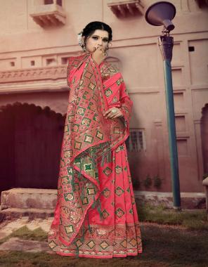 gajri  jacqaurd silk fabric weaving jacqaurd work festive