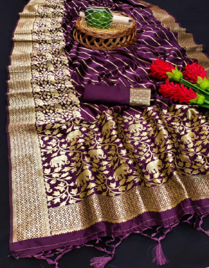 wine soft lichi silk fabric weaving jacqaurd work ethnic