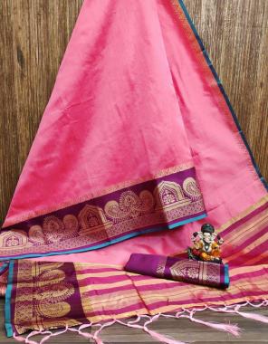 pink crystal silk fabric weaving work wedding