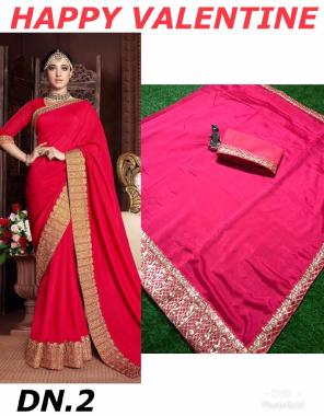 red saree -fancy vichitra silk |blouse -banglori silk fabric embroidery work ethnic