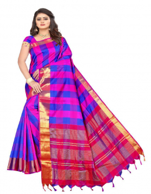 multi soft dobby silk fabric chex weaving work casual