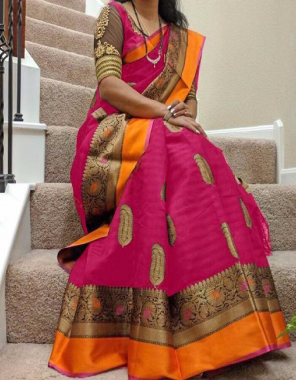 pink bhagalpuri cotton  fabric printed work wedding