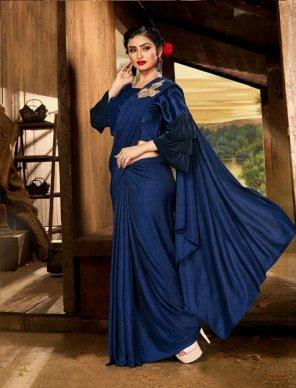 royal blue lycra fabric plain work party