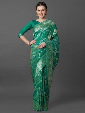 batli green kaisori silk fabric weaving work festival