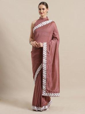 rose wood pink silk blend fabric plain work party