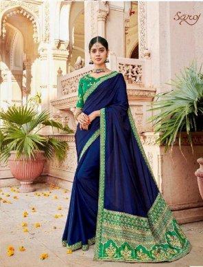royal blue barfi dyed fabric embroidery work wedding