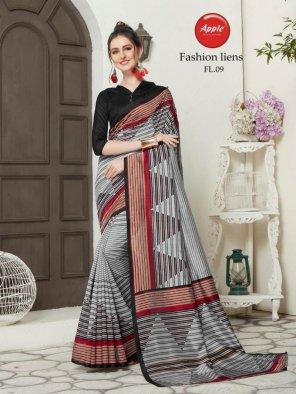 gray bhagalpuri silk fabric weaving work casual