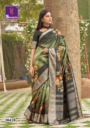 dark green silk fabric weaving work festival