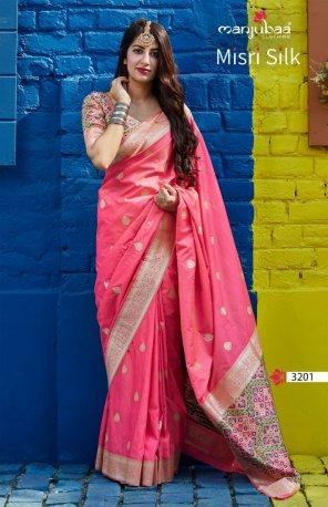 baby pink banarasi soft silk fabric weaving work wedding