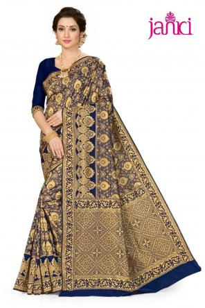 navy blue pure silk fabric weaving work party
