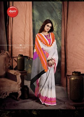 multi bhagalpuri silk fabric printed work casual