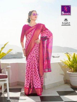 pink silk handloom fabric art print work casual