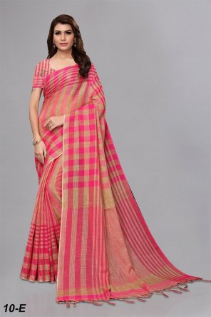 hot pink cotton fabric weaving work casual